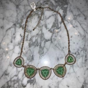 J. Crew Emerald Gemstone Necklace